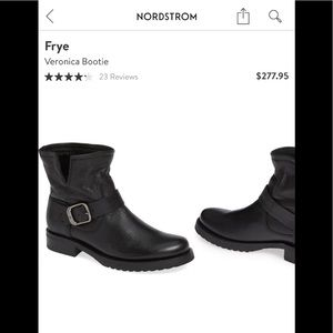 Frye Veronica black biker boots booties 7